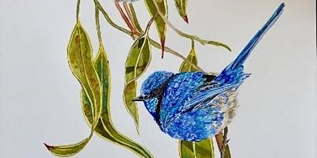 The Friday Gallery Watercolour painting live online class: Fairy Wren tickets