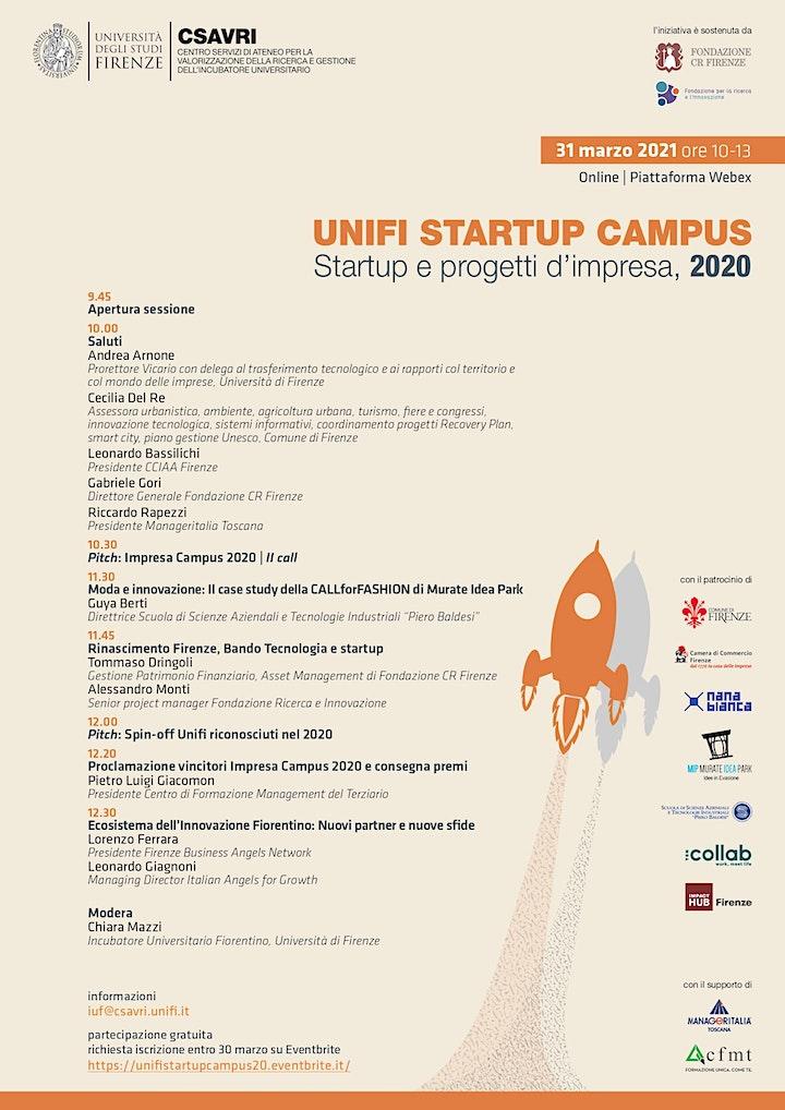 Immagine Unifi Startup Campus: startup e progetti d'impresa 2020