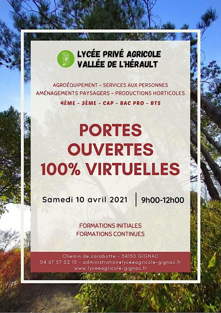 Image pour Journée ¨Portes Ouvertes Virtuelles - Lycée Agricole de Gignac