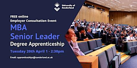 University of Sunderland MBA Senior Leader Employer Consultation Event tickets