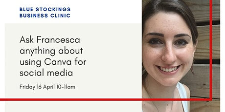 Ask Francesca anything about using Canva for social media tickets