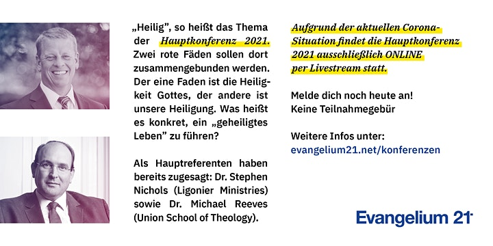 "E21-Hauptkonferenz 2021 ""heilig"" (Online-Konferenz): Bild"