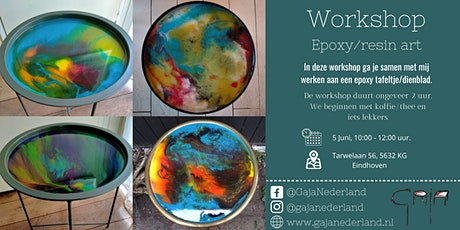 Workshop epoxy/resin art, Eindhoven (ochtend) tickets