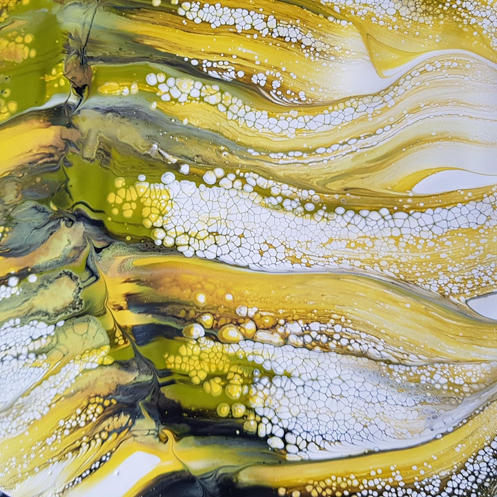 Fluid Art Experience - 'SUPER IN-DEPTH CLASS' - LEARN THREE TECHNIQUES image