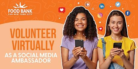Social Media Ambassador Launch Party & Virtual Service Hour tickets