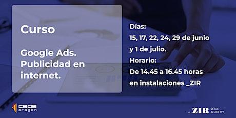 Curso Google Ads. Publicidad en internet. entradas