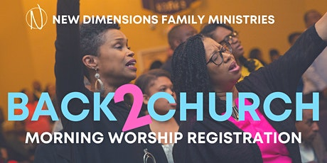 NDFM Church Registration tickets