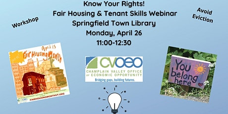 Know Your Rights! Fair Housing & Tenant Skills Webinar tickets