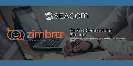 Corso Certificazione Zimbra, Online  19 - 21 maggio 2021 biglietti