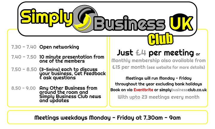 Simply Business Club - Online Networking without restriction! image