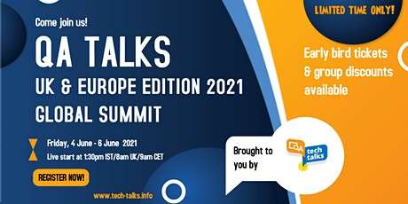 QA Talks - UK & Europe Edition 2021 Global Summit tickets