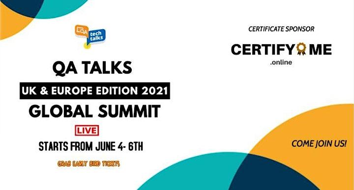 QA Talks - UK & Europe Edition 2021 Global Summit image