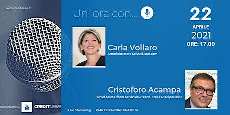 Un'ora con... Carla Vollaro e Cristoforo Acampa, ServiziSicuri.com biglietti