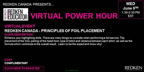 REDKEN CANADA - PRINCIPLES OF FOIL PLACEMENT tickets
