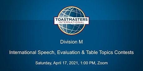 Division M International Speech, Evaluation, and Table Topics Contest tickets