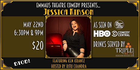 Jessica Kirson Headlines at the Emmaus Theatre tickets