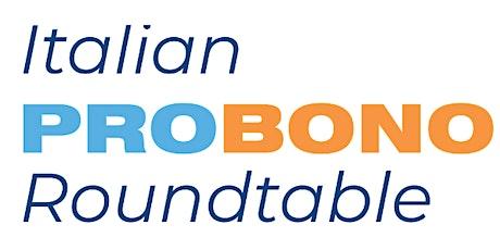 38ma Italian Pro Bono Roundtable biglietti