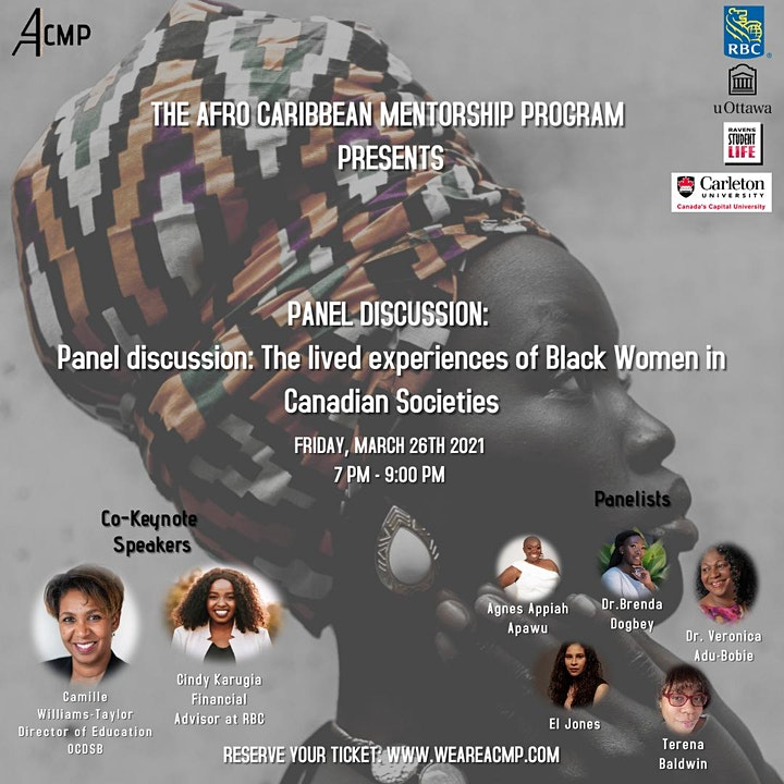 Panel discussion:The lived experiences of Black Women in Canadian Societies image