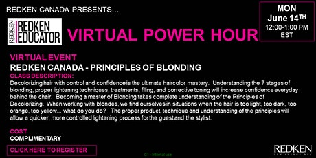 REDKEN CANADA - PRINCIPLES OF BLONDING tickets