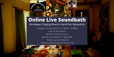 Online Meditation and Soundbath: Himalayan Bowls and Hand-pan Relaxation tickets