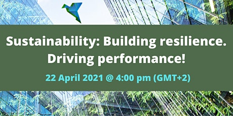 Sustainability: Building resilience. Driving performance! tickets