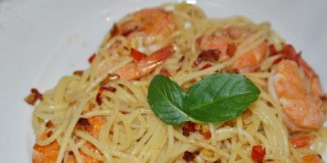 Online Class: Shrimp Scampi with Homemade Linguini tickets