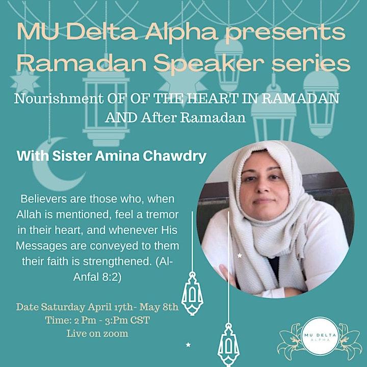 Ramadan Speaker series image