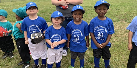 2021 Tee Ball Registration (ages 5-6) tickets