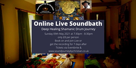 Online Meditation and Soundbath: Deep Healing Shamanic Drum Journey tickets