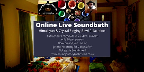 Online Meditation and Soundbath: Himalayan and Crystal Singing Bowls tickets