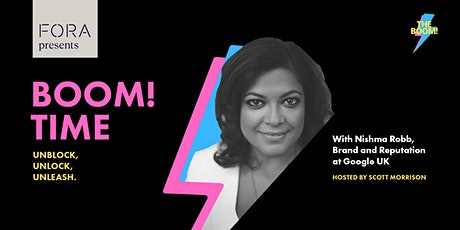 Boom! Time with Nishma Robb of Google UK tickets