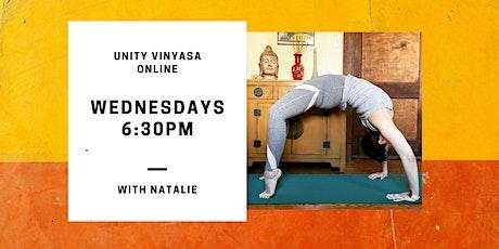 Unity Vinyasa Online with Natalie tickets