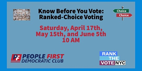 Know Before You Vote tickets