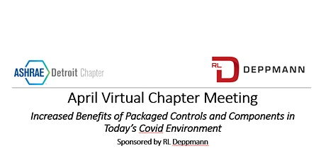 April 20th ASHRAE Virtual Event - Sponsored by RL Deppmann tickets