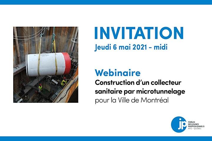 Image de WEBINAIRE - Construction d'un collecteur sanitaire par microtunnelage
