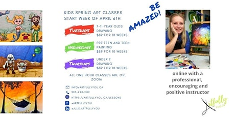 Kids Art Studio pre-teen and teen Painting Wednesdays 4pm - 5pm tickets