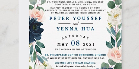 Wedding Invitation for Peter Youssef and  Yenna Hua tickets