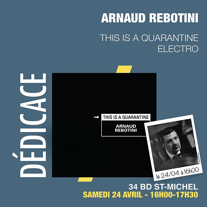 "Image pour GIBERT Dédicace : Arnaud Rebotini nouvel album ""This is a quarantine"""