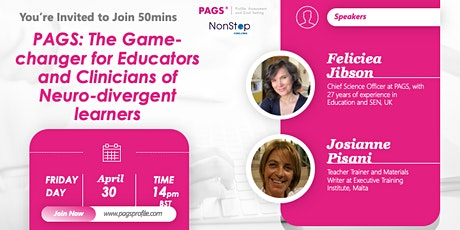 PAGS:The Game-changer for Educators & Clinicians of Neurodivergent learners tickets