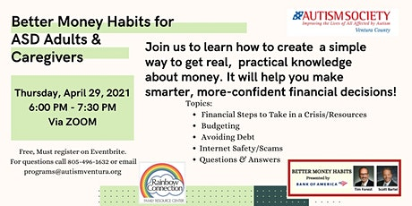 Better Money Habits for ASD Adults and Caregivers tickets
