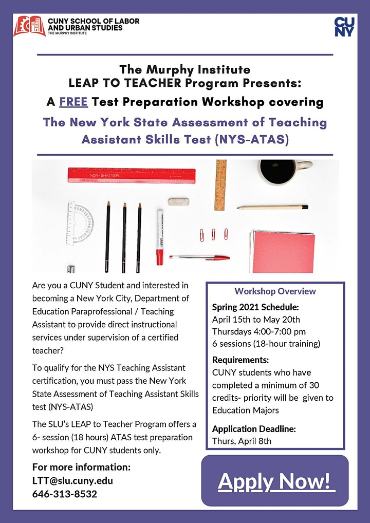 NYS-ATAS Test Preparation Workshop image