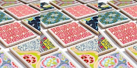 Adult Craft Kit - Tile Coasters tickets
