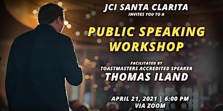 Public Speaking Workshop with Tom Iland biglietti