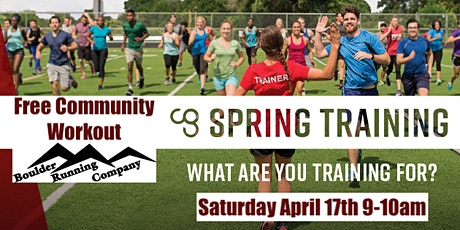 Spring Training Community Workout tickets