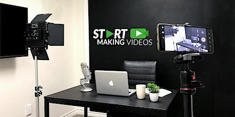 Start Making Videos Hands-On Workshop On Zoom    Saturday, Oct. 30, 10 AM tickets