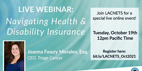 "Live Webinar: ""Navigating Health & Disability Insurance"" tickets"