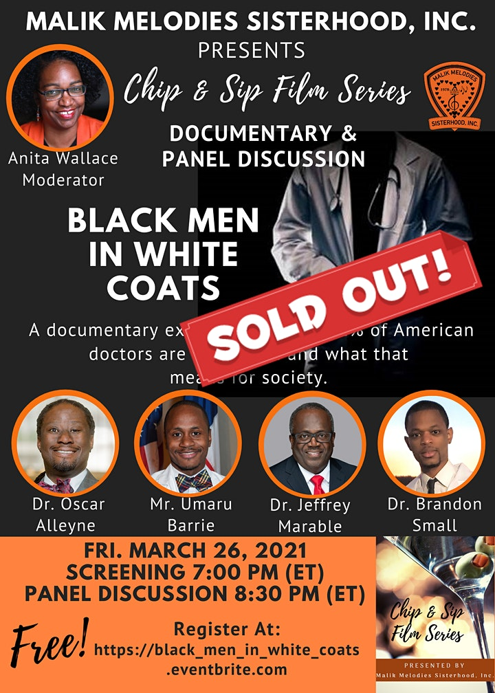 Black Men In White Coats - Film Screening and Panel Discussion image