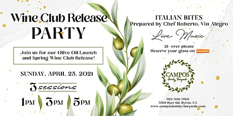 Spring Wine Club Release Party - For Members Only. tickets