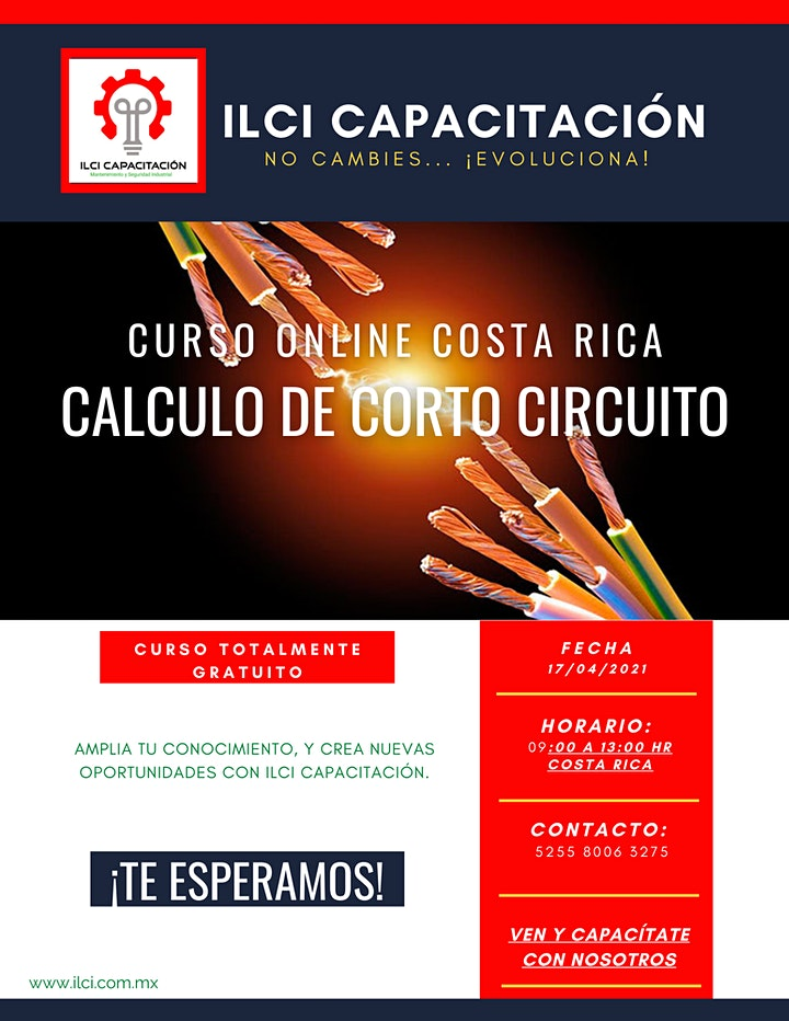 """Imagen de Curso Gratuito Costa Rica """"Cálculo de Corto Circuito"""""""