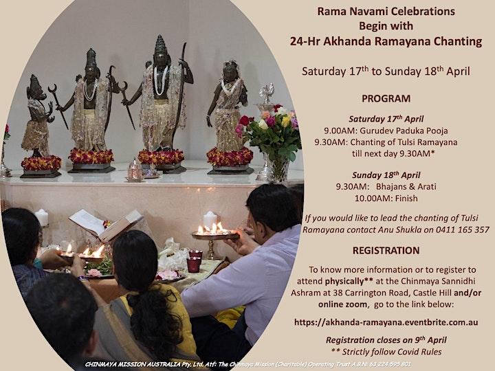 24 Hour Akhanda Ramayana Chanting - Rama Navami Celebrations image